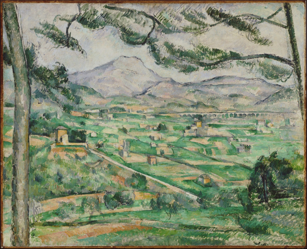 La Montagne Sainte-Victoire au Grand Pin 1886-1887. huile sur toile 59,7 x 72,5 cm Washington, D.C. , The Philips Collection (cat. Rewald R598 cat. FWN 214)
