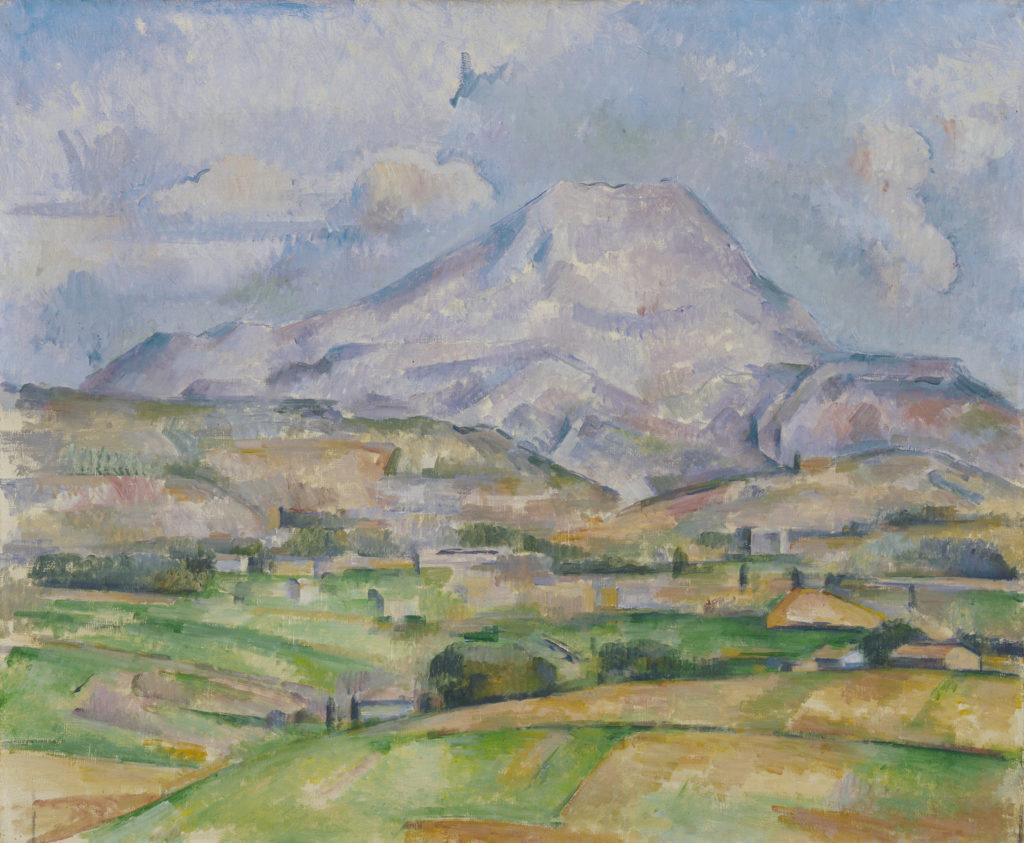 La Montagne Sainte-Victoire vers 1888, huile sur toile ; 54 x 65 cm, Stedelijk Museum Amsterdam, R608