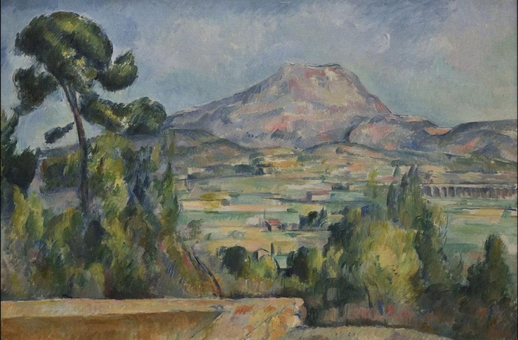 La Montagne Sainte-Victoire vers 1890 ; huile sur toile ; 62 x 92 cm, Paris, musée d'Orsay, (R698, FWN 273)