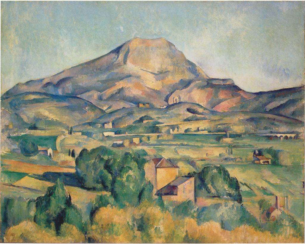 La Montagne Sainte-Victoire et la Bastide Vieille 1892-1893 ; huile sur toile ; 71 x 90 cm, R767 Philadelphia, Barnes Foundation