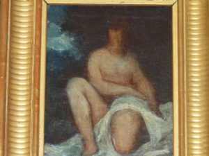Amazone, huile sur toile d'Emperaire, petit format, 12 x 16 cm, collection particulière.