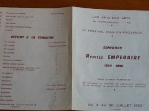 Exposition Achille Emperaire 1953