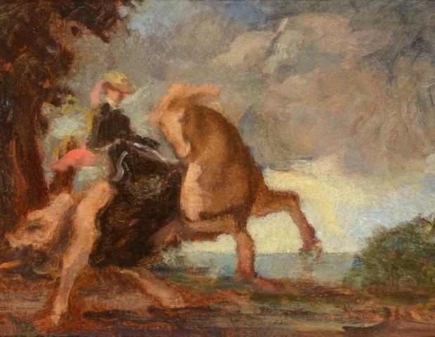 Amazone et cheval qui se cabre, collection particulière.