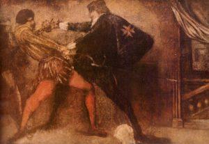 Achille Emperaire, Scène de duel, collection du musée Granet
