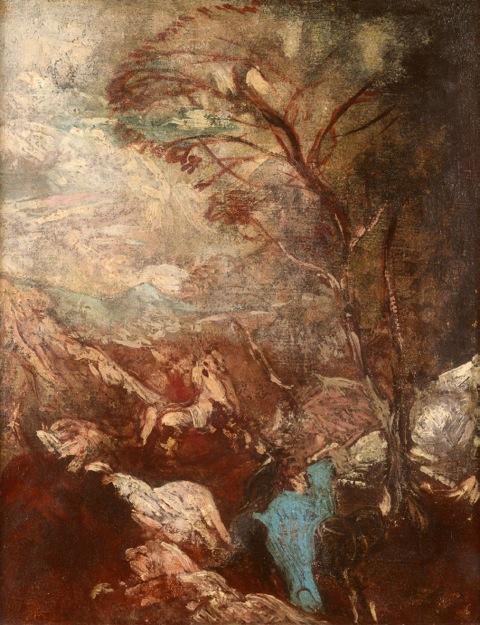 Paysage dans les rochers par Achille Emperaire (collection particulière)