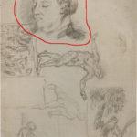 1874-75-page-detudes-tete-de-mme-cezanne-homme-assis-deux-femmes-et-un-enfant-dans-un-parc-c0354a