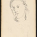 Paul Cézanne, Head of a Young Woman, French, 1839 - 1906, c. 1880, graphite on wove paper, Collection of Mr. and Mrs. Paul Mellon, in Honor of the 50th Anniversary of the National Gallery of Art