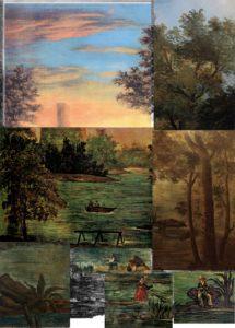 Paysage romantique aux pêcheurs 1862-1864 R034 à R041 FWN 8 à 12, 581 à 583