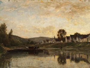 Charles François Daubigny, Ferryboat near Bonnières-sur-Seine, 1861, oil on canvas. Bequest of Charles Phelps and Anna Sinton Taft, Taft Museum of Art, Cincinnati, Ohio