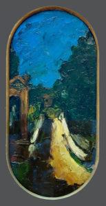 Paysage à l'oratoire et le pont des Trois Sautets, 1865-1866 33 x 16 cm R066 FWN36