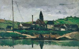 Le Bac à Bonnière,s été 1866 38 x 61 cm R096 FWN 42