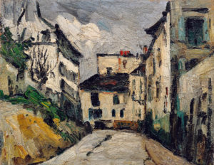 La Rue des Saules à Montmartre 1867-1868 31.5 x 39.5 cm R131 FWN50