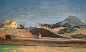 La Tranchée avec la montagne Sainte-Victoire, vers 1870 80 x 129 cm R156 FWN54