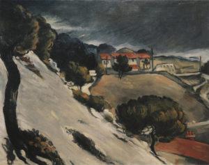 R157 La Neige fondue à l'Estaque - Les Toits rouges, vers 1870 73 x 92 cm R157 FWN53