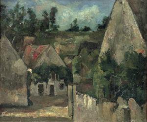 Carrefour de la rue Rémy à Auvers-sur-Oise vers 1872 38 x 45.5 cm R185 FWN64