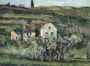 Petites maisons à Pontoise, près d'Auvers-sur-Oise vers 1874 40.5 x 54.5 cm R220, FWN82