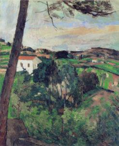 Paysage provençal au toit rouge 1875-1876 72 x 58 cm R273 FWN95