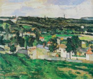 Groupe de maisons, paysage d'Île-de-France 1879-1880 46 x 55 cm R401 FWN132