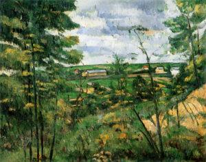 La Plaine de Saint-Ouen-l'Aumône vue des carrières du Chou vers 1882 72 x 91 cm RW434 FWN147