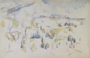 """""""La Montagne Sainte Victoire vue des Lauves"""" Aquarelle de la Fondation Henry et Rose Pearlmann RW584"""