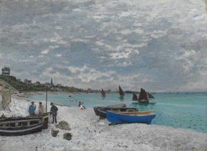 Monet - la Plage de Sainte-Adresse, vers 1867