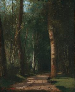 Camille Pissarro - Allée dans une forêt