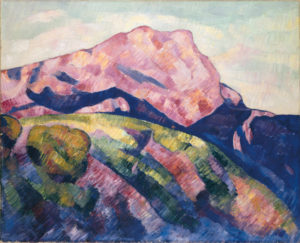 Marsden Hartley Mont Sainte-Victoire, 1927 [pink mountain] il on canvas 32 x 391⁄2 inches. Private Collection of Elaine and Henry Kaufman