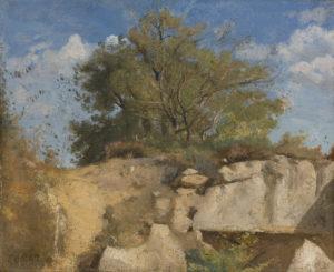 Camille Corot - Fontainebleau, sommet de carrière boisée
