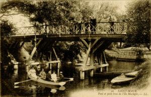 Le Pont de l'île Machefer à Saint-Maur-des-Fossés Carte postale ancienne