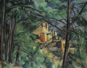 Château Noir derrière les arbres 1885 73.5 x 92.5 cm R522 FWN237