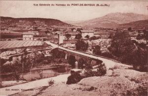 Vue générale du hameau du Pont-de-Bayeux Carte postale ancienne, vers 1900