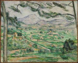 La Montagne Sainte-Victoire au grand pin et la Bastide Vieille I, 1886-1887 59.7 x 72.5 cm R598 FWN234