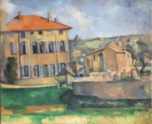 Maison et ferme du Jas de Bouffan, vers 1887 60 x 73 cm R600 FWN238