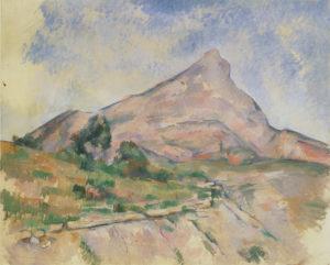 La Montagne Sainte-Victoire vue des Infernets, vers 1895 81 x 100.5 cm R762-FWN295
