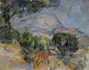 La Montagne Sainte-Victoire au-dessus de la route du Tholonet (avec pin parasol), vers 1904 73.2 x 92.1 cm R900 FWN350