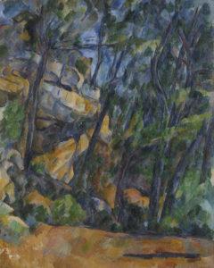Arbres et rochers dans le parc du Château Noir, vers 1904 92 x 73 cm R908-FWN337
