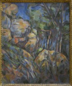 Rochers près des grottes au-dessus du Château Noir , vers 1904 65 x 54 cm R909 FWN338