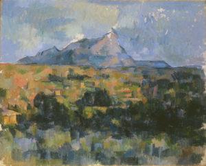 La Montagne Sainte-Victoire vue des Lauves, 1902-1906 65 x 81 cm R914-FWN354