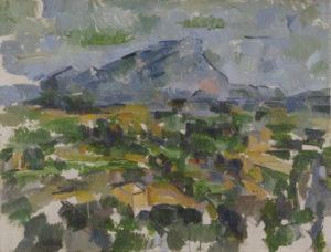 La Montagne Sainte-Victoire vue des Lauves, 1902-1906 63.5 x 83 cm R916-FWN364