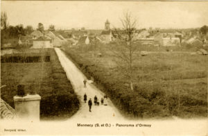 carte postale ancienne-Mennecy vu d'Ormoie