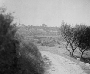 Photographie trouvée dans l'atelier des Lauves, vraisemblablement prise par Emile Bernard en 1904 (détail)