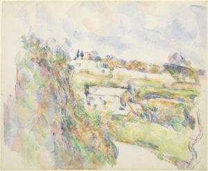 Maison près d'un tournant en haut du chemin des Lauves, 1904-1906 RW629