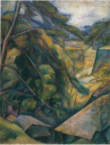 Tsunetomo Morita - Ruines d'un château 1916