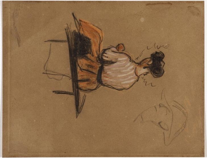 03R C0092 Femme assise sur un banc 64-65