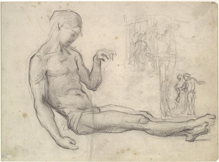 25R C0171 Étude du Christ, d'après Fra Bartolomeo 66-69