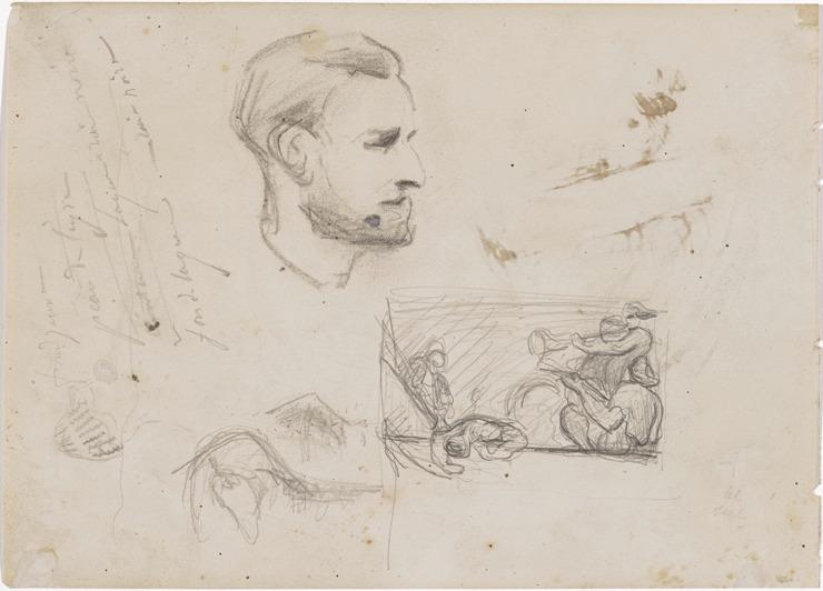 28V C0139 Portrait, et étude pour L'Orgie c67 (64-68 selon Chappuis)