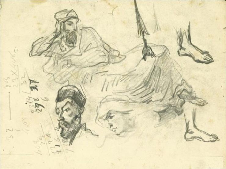 31V C0141 Sardanapale, d'après Delacroix 66-67