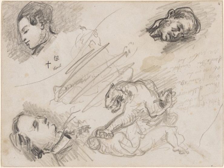 32R C0186 Études d'après Delacroix 67-70