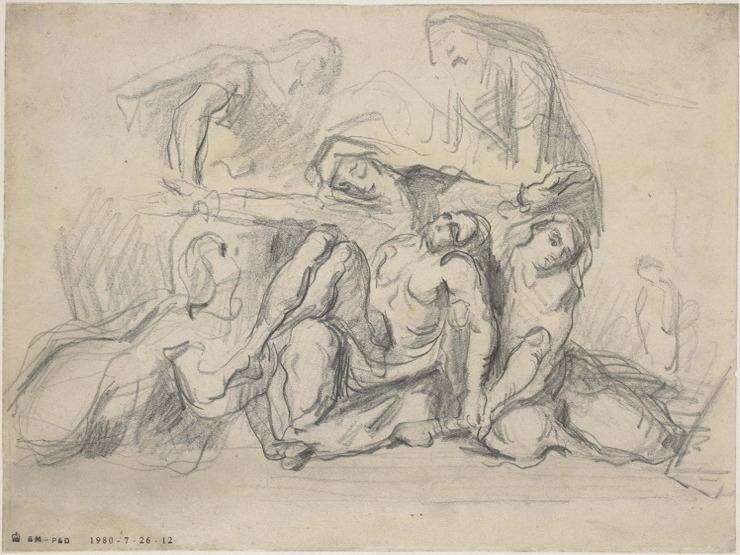 39R C0167 La Mise au tombeau, d'après Delacroix 66-67