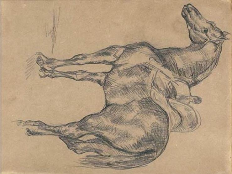 40R C0210 Cheval turc à l'écurie, d'après Géricault 67-71